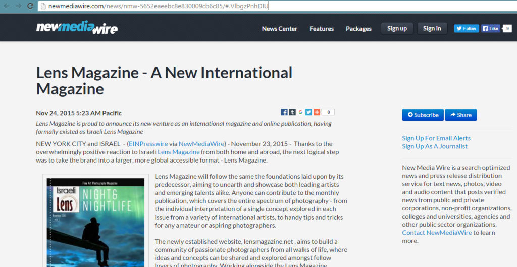 Lens-on-NewMediaWire